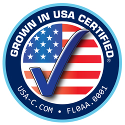 Grown in USA certified
